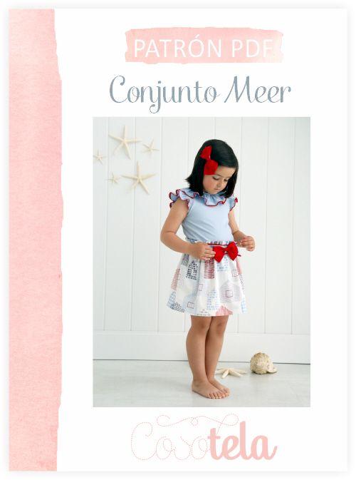 Patrón de blusa y falda Conjunto Meer. Patrón de costura en pdf de ...