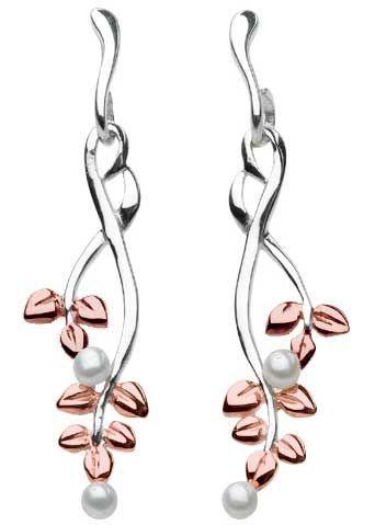 Kit Heath Sterling Silver Bevel Edge Earrings Earrings Silver Drop Earrings