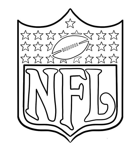 arms of nfl football coloring pages football coloring pages