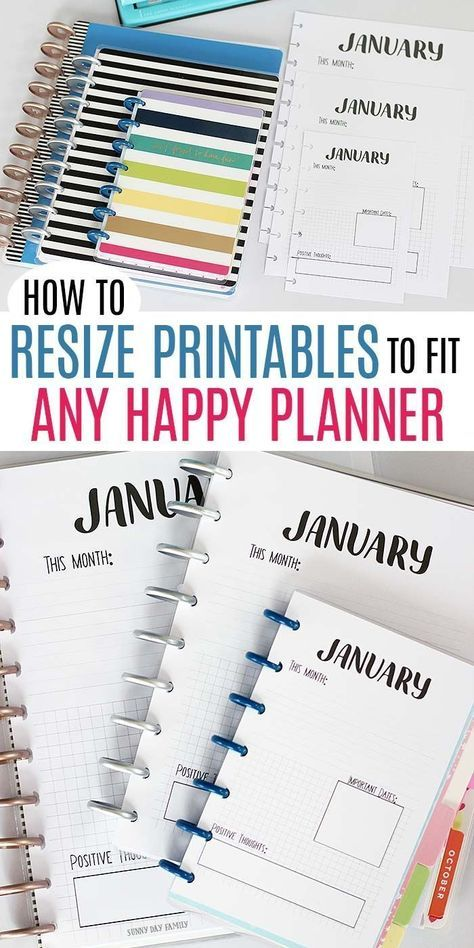 How to Resize Printables to Fit Any Happy Planner Size (with VIDEO) -   11 fitness Planner memories ideas