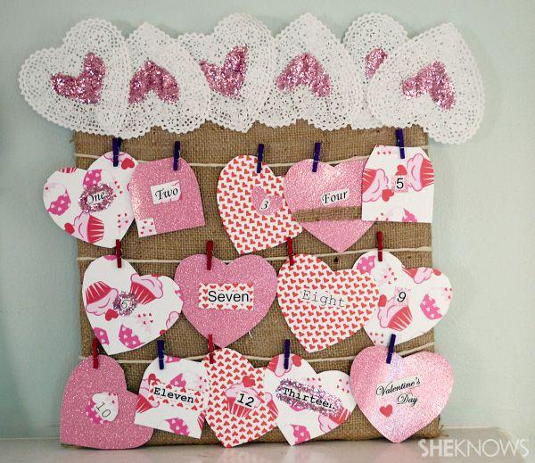 V-Day countdown calendar #ValentinesDay