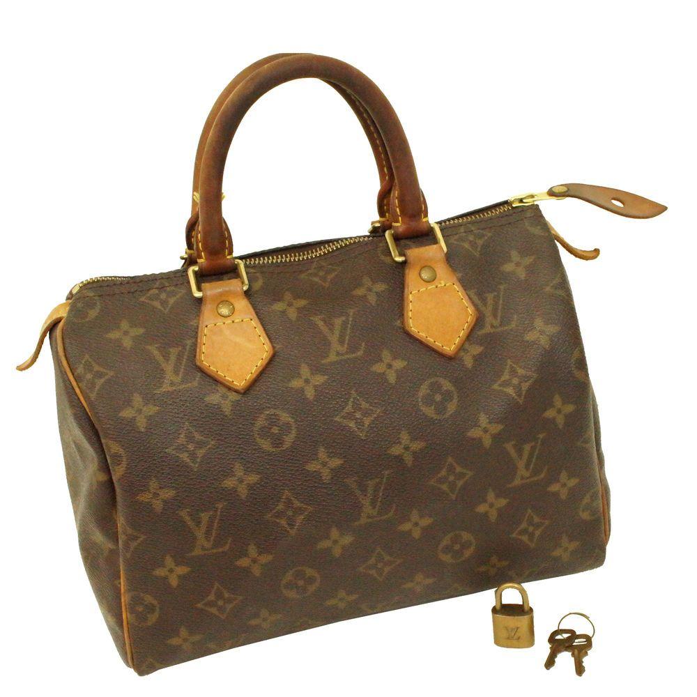 Auth Louis Vuitton Monogram Sdy 25 Handbag Lv Boston Bag Retail 855 Lock Key