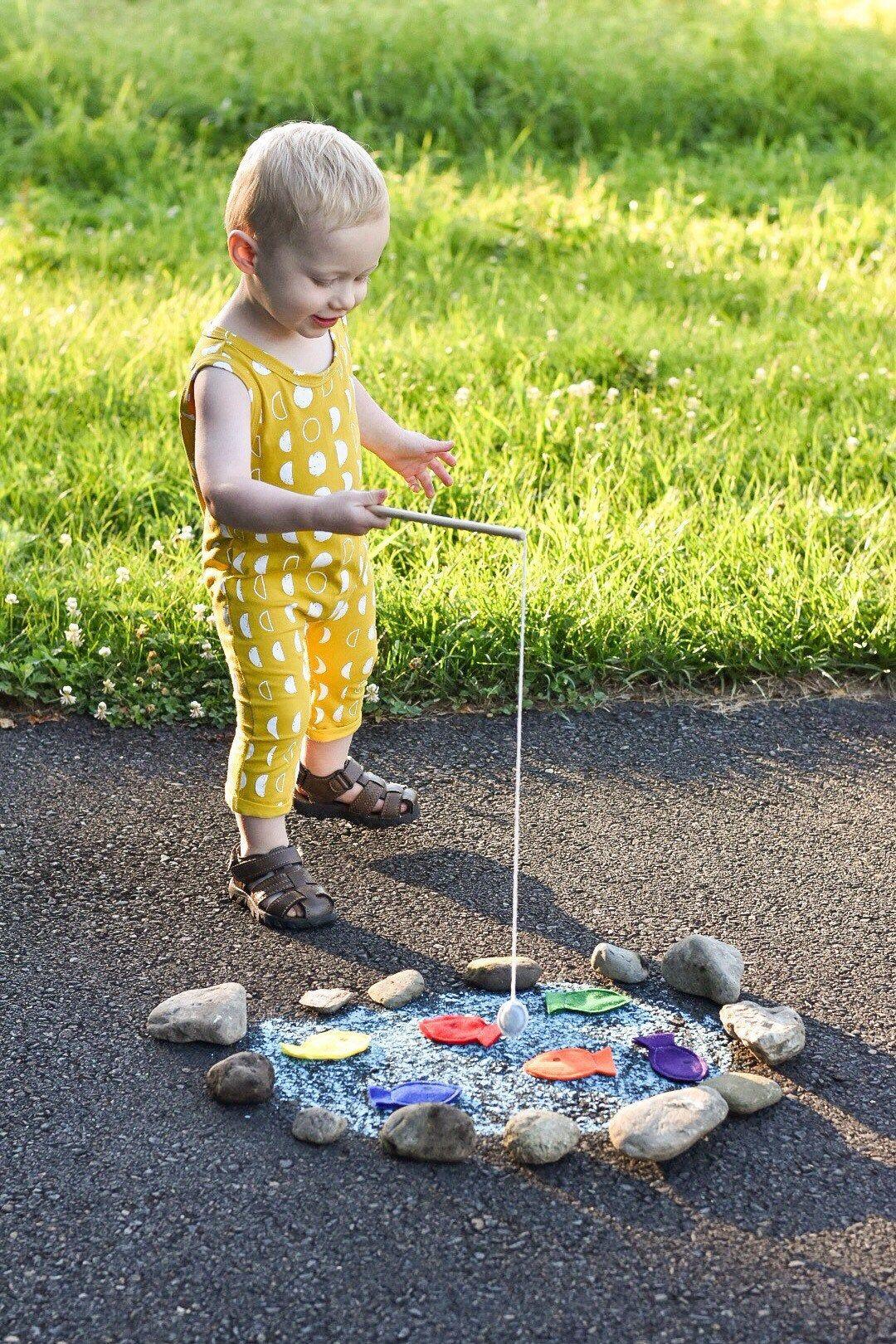 "Toddler Educational Toys, Magnet Felt Fishing Game, Fishing Kids Game, Handmade Toys, Waldorf Toys, ""Sherbet"" Colors"
