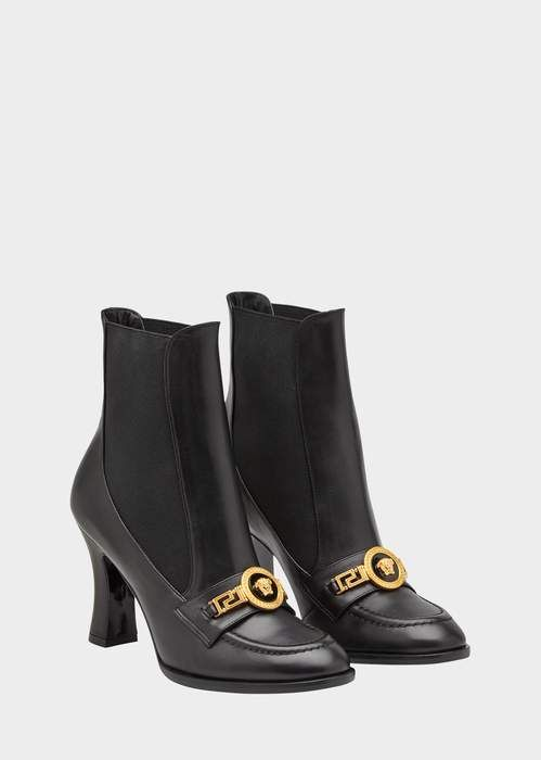 cd8cedaac17 Versace High Heel Icon Loafer Boots