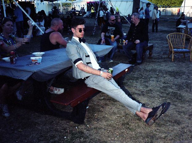 You can still be a dapper dresser at festivals - check out this festival style at Lovebox