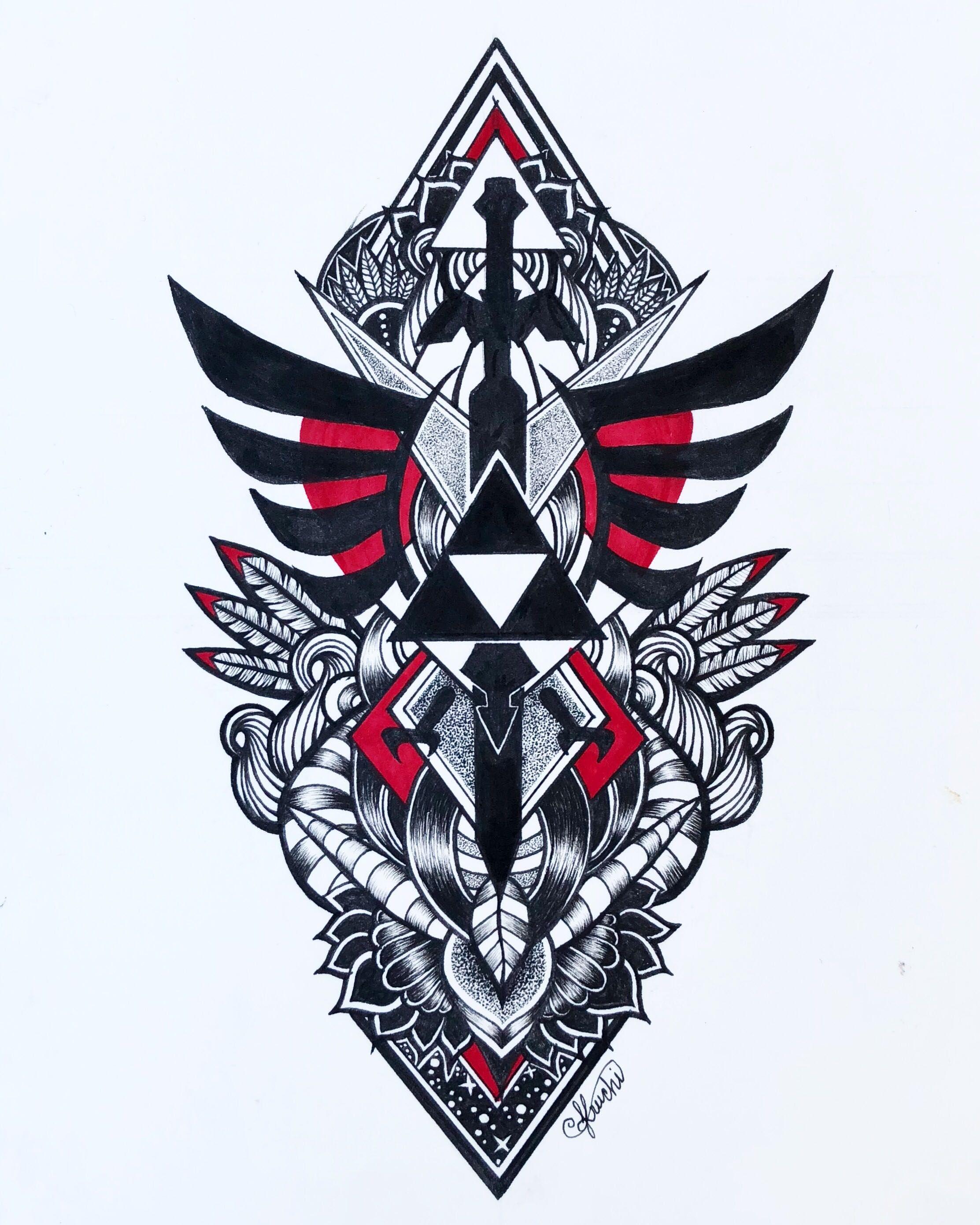 MM ideas Legend of zelda tattoos, Zelda tattoo, Zelda logo
