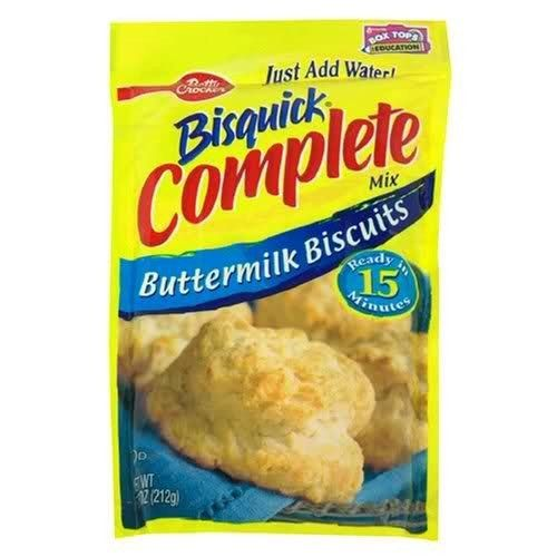 Betty Crocker Bisquick Complete Buttermilk Biscuit Mix Just Add Water 7 5 Oz 6 To 8 Biscuits 4 Pack Amazon Com Grocery Biscuit Mix Bisquick Trail Food