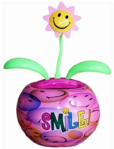 Smile Groovers Solar Dancing Flower With Adhesive Base Flower Dance Plastic Flowers Flowers