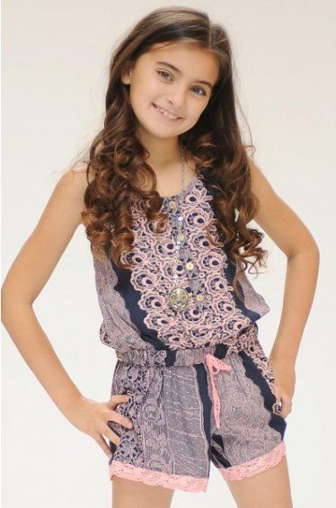 7ce271a583c6 Tween Aphrodite Lace Romper 7 to 16 Years at Cassie s Closet