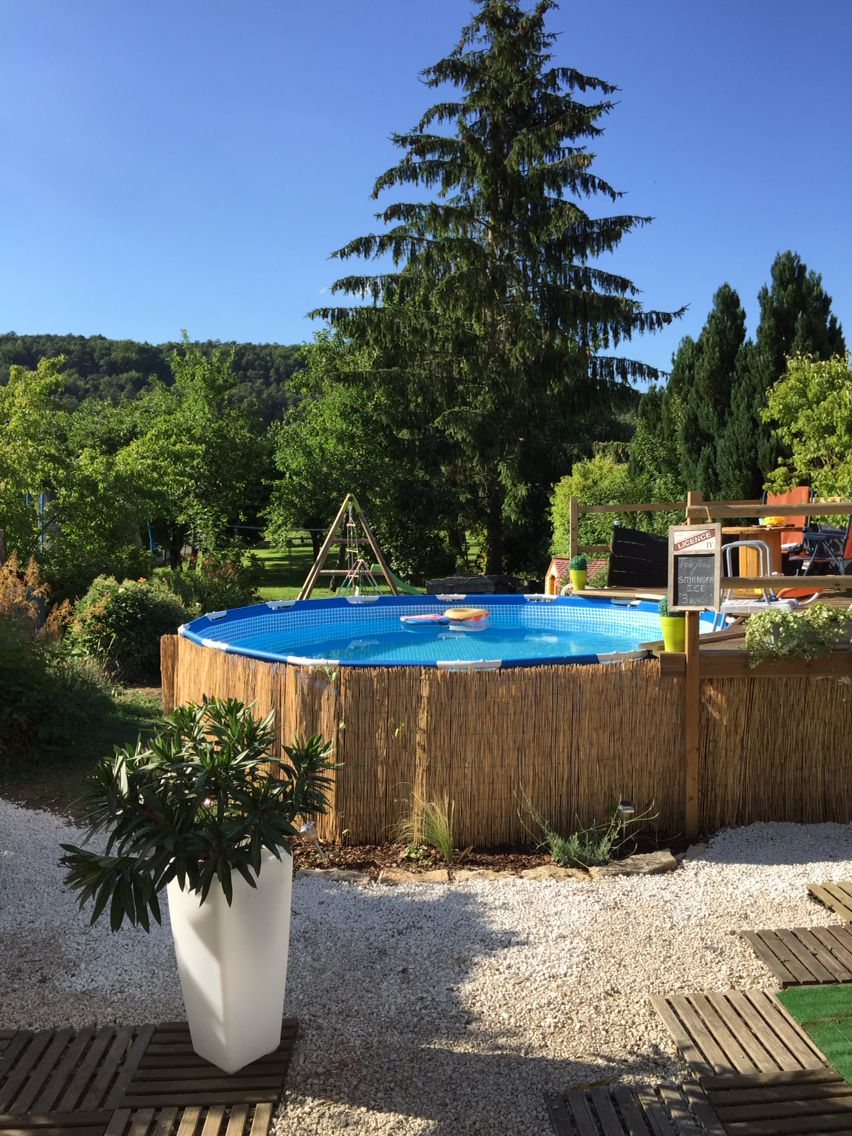 Id e am nagement terrasse et piscine hors sol cr ation - Amenager une piscine hors sol ...