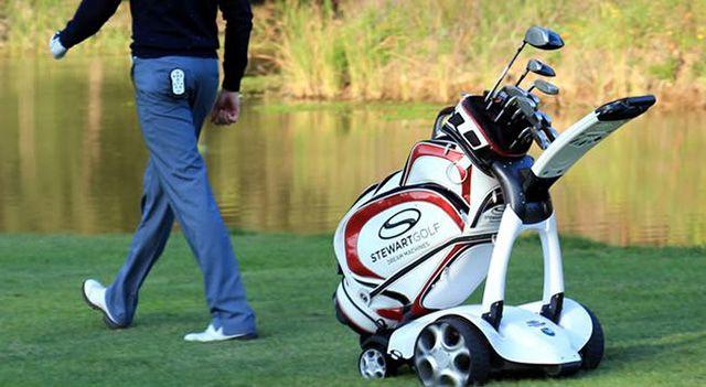 Electric Golf Caddy >> X9 Follow By Stewart Golf A Foldable Remote Control Golf Caddy
