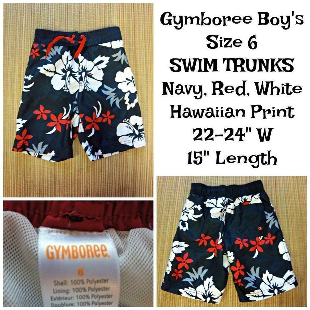 38ac812358 GYMBOREE Boys SWIM Trunks Size 6 22-24