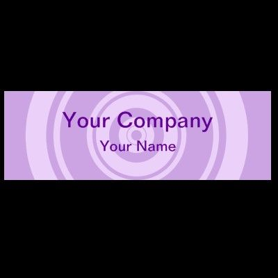 Professional purple circle business cards