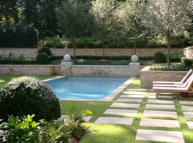 Selecting The Pool Color Inground Pool Landscaping Swimming