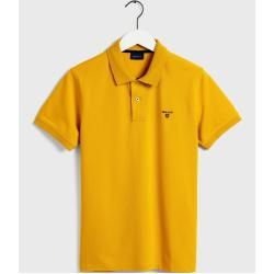 Photo of Gant Piqué Poloshirt mit Kontrastkragen (Gold) GantGant