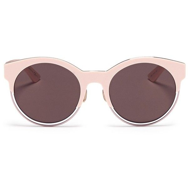e23e3c9ee50 Dior  Sideral 1  metallic rim acetate cat eye sunglasses (€390) ❤. Pink  SunglassesRound SunglassesChristian ...