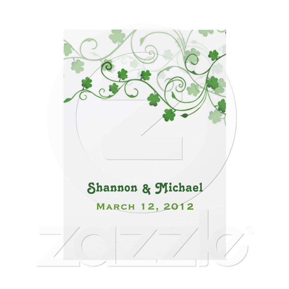 Clover Irish Wedding Invitation | Invitation ideas, Weddings and Wedding