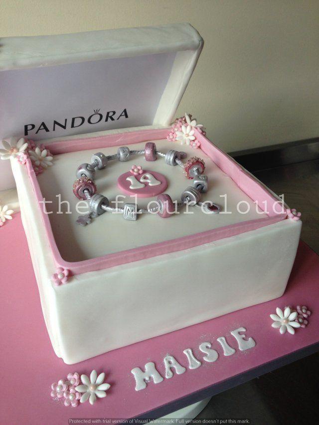 pandora charms tarta cumpleaños