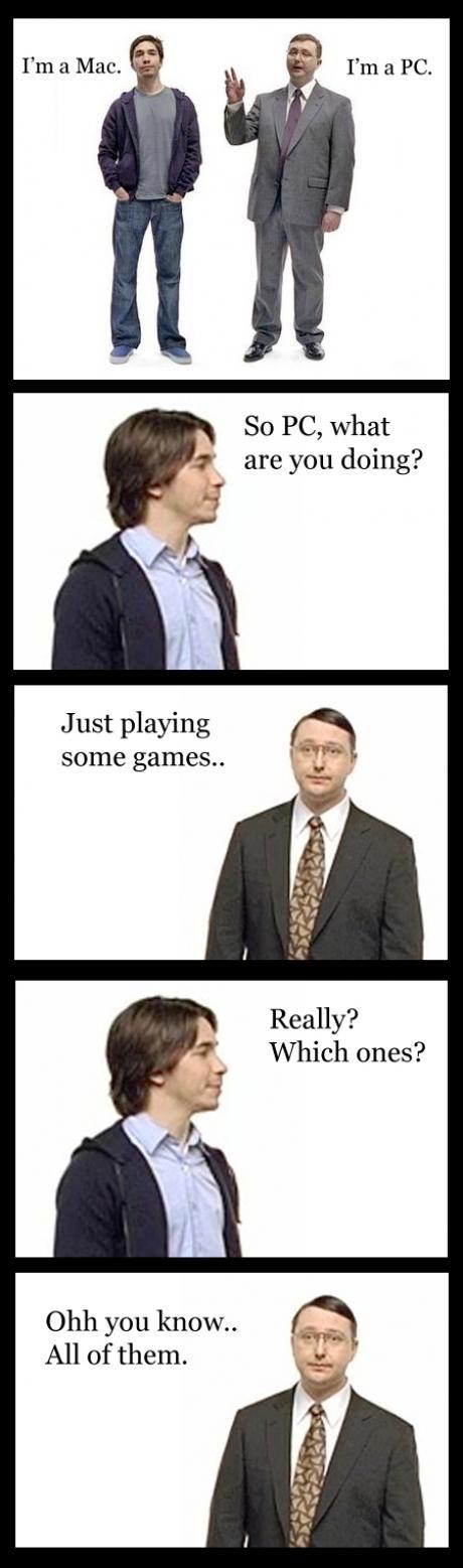 Mac Vs Pc Meme Picture Meme Pictures Geek Humor Mac Vs Pc