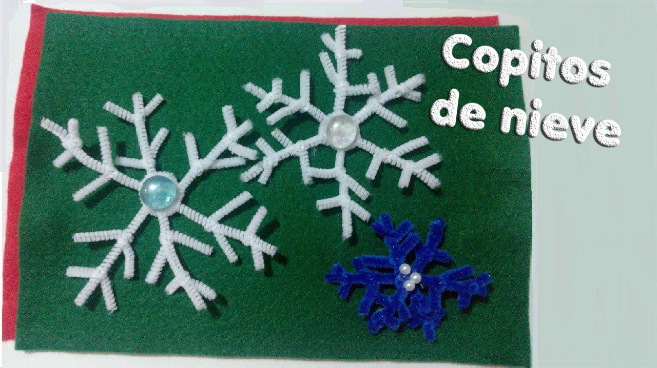 DIY Navidad- Copo de nieve de limpia pipas. Christmas- Pipe cleaner Snow...