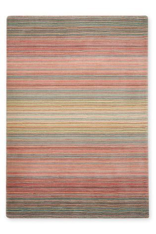 Wool Ombre Stripe Pink Rug