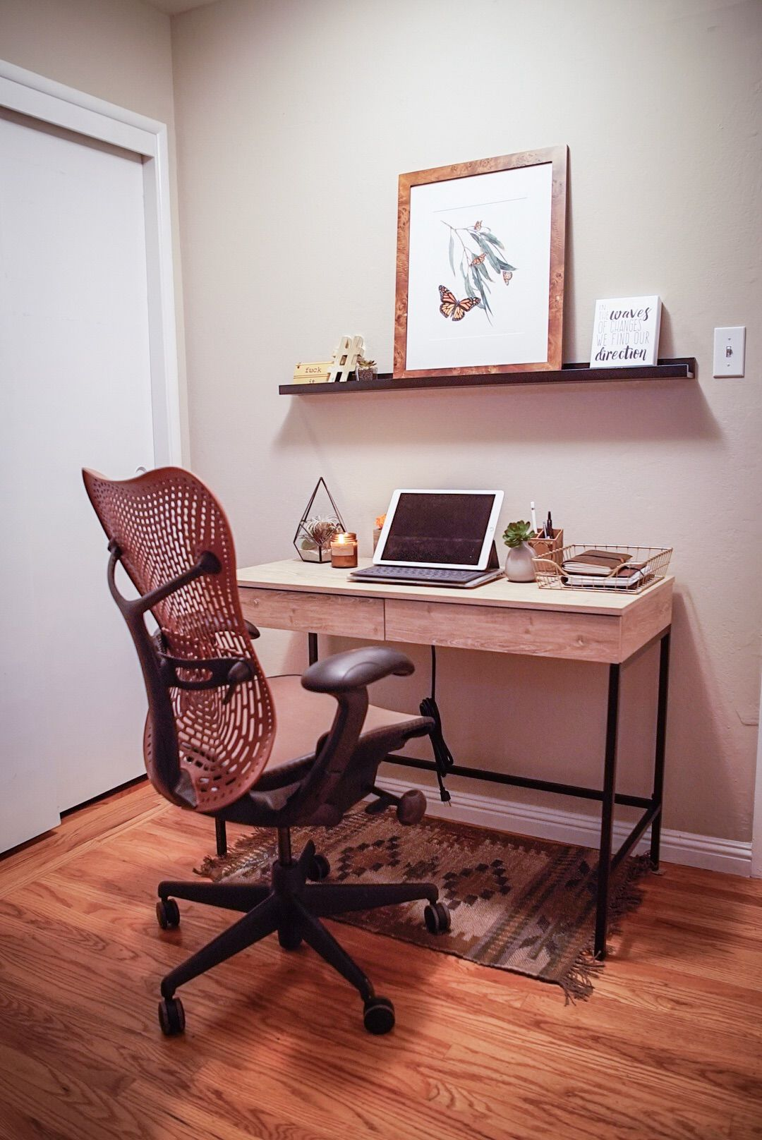 Home Office With Mirra Chair And Loring Writing Desk Apartment Decor Home Decor Home