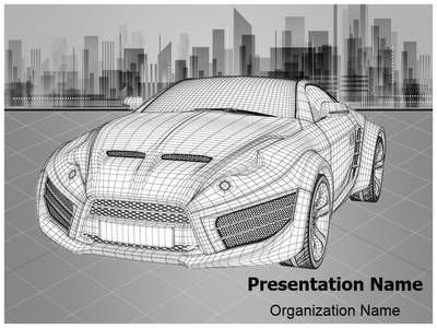 3D Modeling Wireframe Powerpoint Template is one of the best - engineering powerpoint template