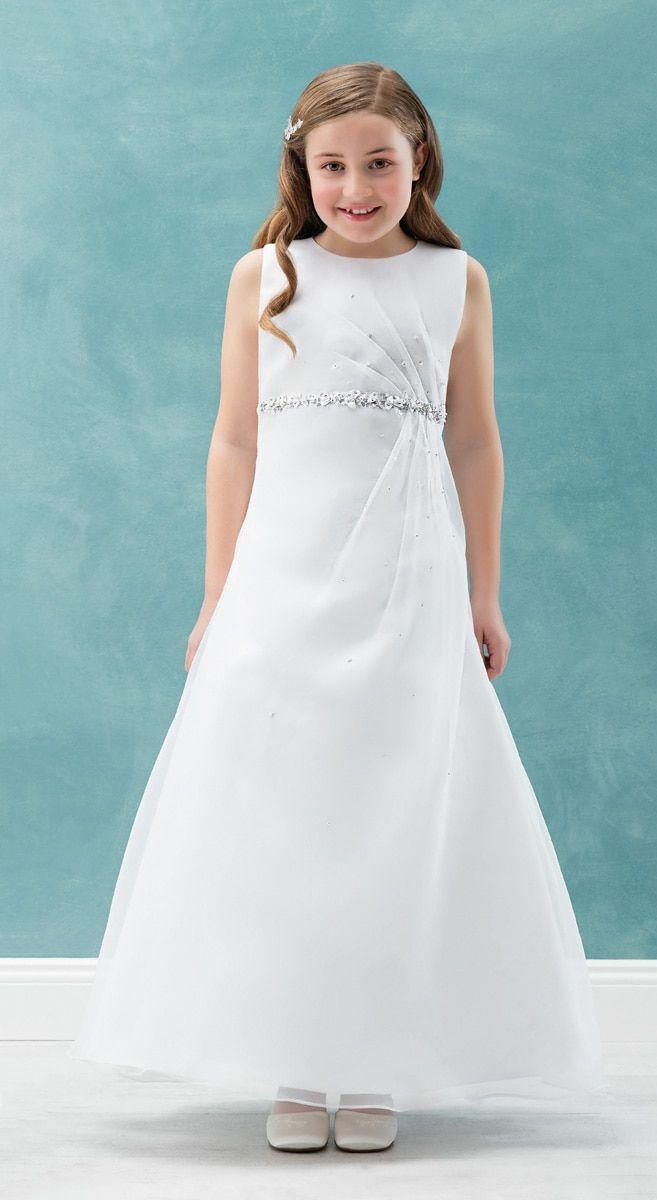 Satinkleid Emmerling Pure White (mit Bildern)   Kommunion