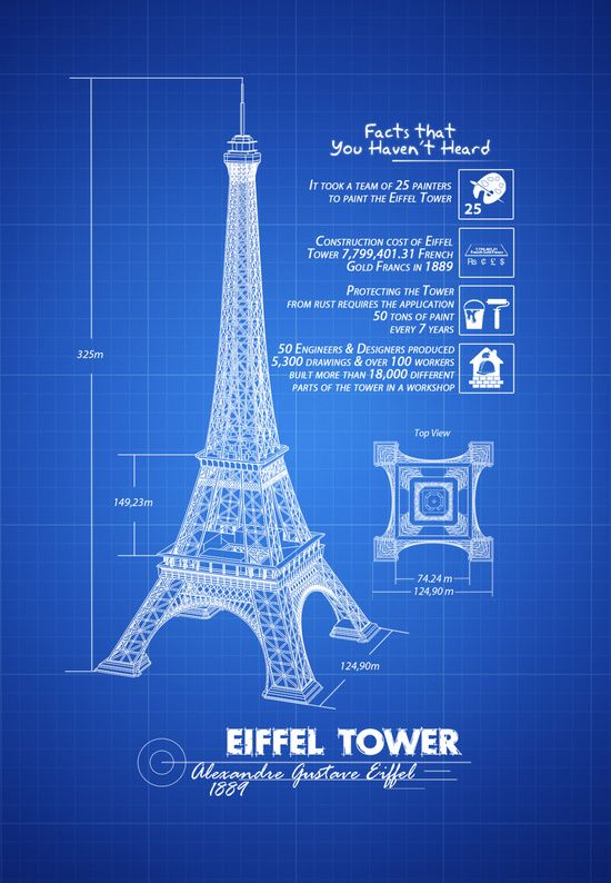 Eiffel tower blueprint design illustration illustration eiffel tower blueprint design illustration malvernweather Choice Image
