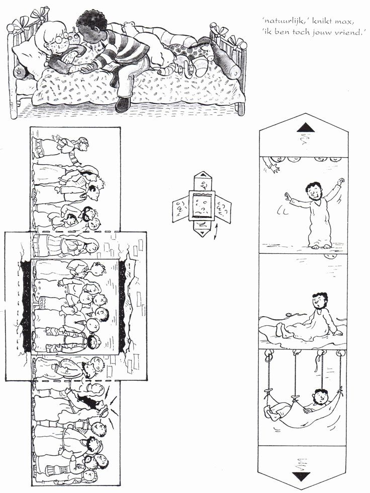 Paralyzed Man Lowered Through Roof Coloring Page Best Of
