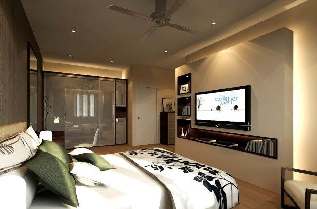 small bedroom tv ideas - Simple Bedroom With Tv