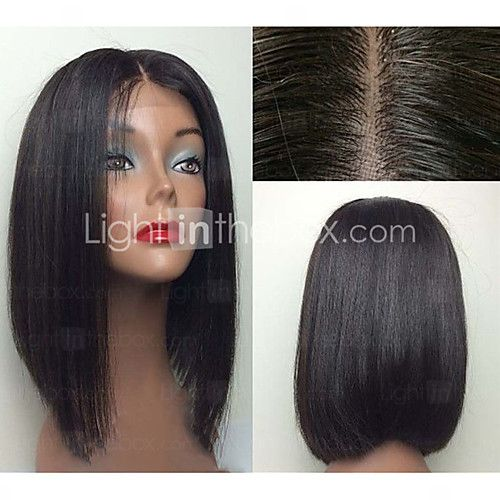 Human Hair Lace Front Wig Bob Free Part Kardashian Style Brazilian Hair Straight Wig 12 Inch With Baby Hair Bleached Knots Women S Short Medium Length Long Huma Front Lace Wigs Human