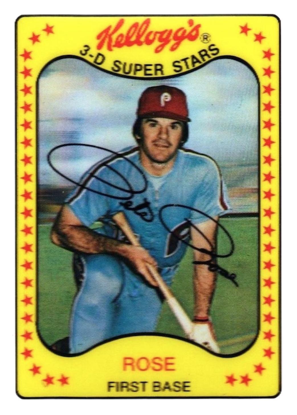 Pete Rose 1981 Kelloggs Philadelphia Phillies Strictly