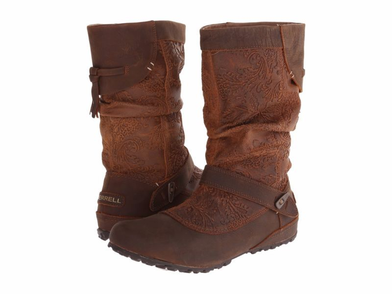 Merrell Haven Pull Women's Boots Leather Oak Size 7