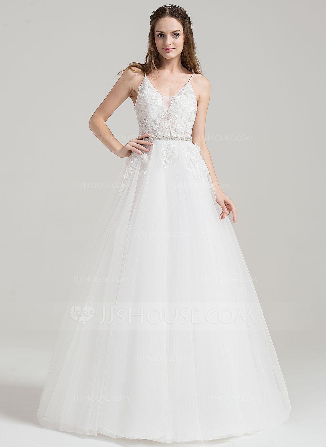 Gray dress for wedding party  Corte de baile Escote en V Hasta el suelo Cuentas Los appliques