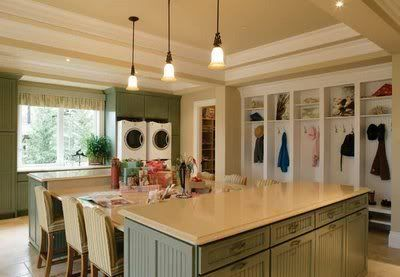Laundry/craft room - WOW how awesome would that be.