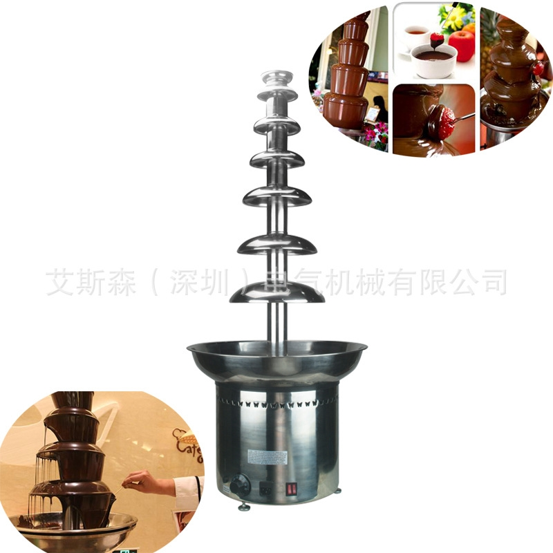 793.00$  Buy here - http://aliuwc.worldwells.pw/go.php?t=32741431265 - Free shipping high quality stainless steel buffet chocolate fountain with heating machine making commercial waterfall