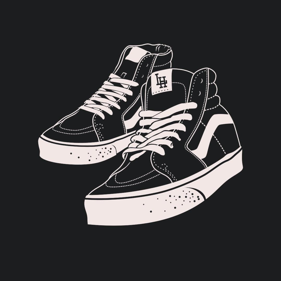 Vans Shoe Drawings | Kunst | Dessin Chaussure, Dessin Und
