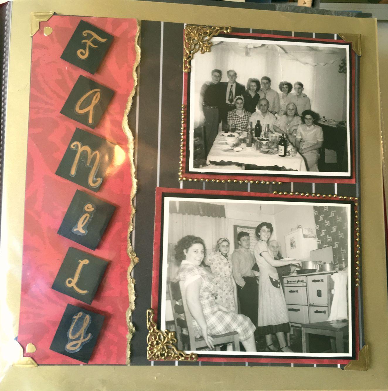 Vintage. Family gathering