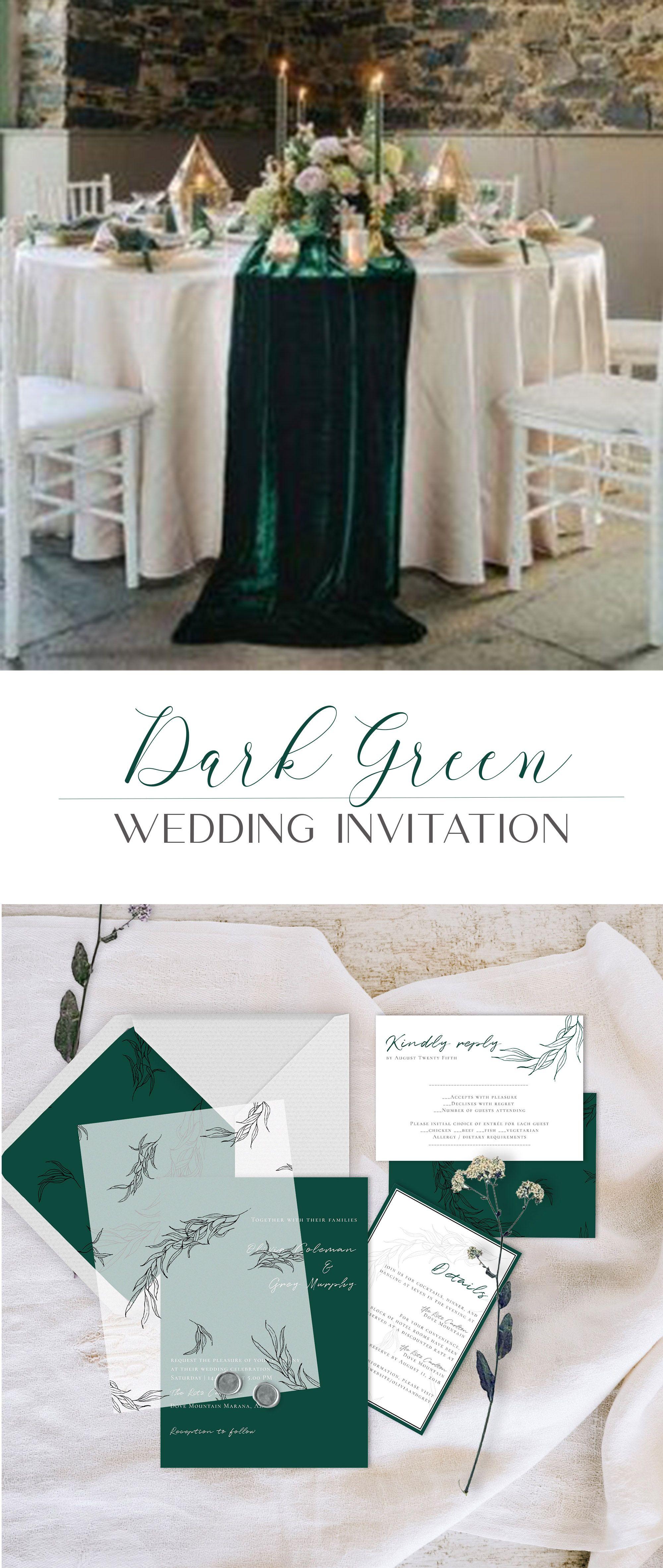 dark green wedding color theme  dark green wedding green