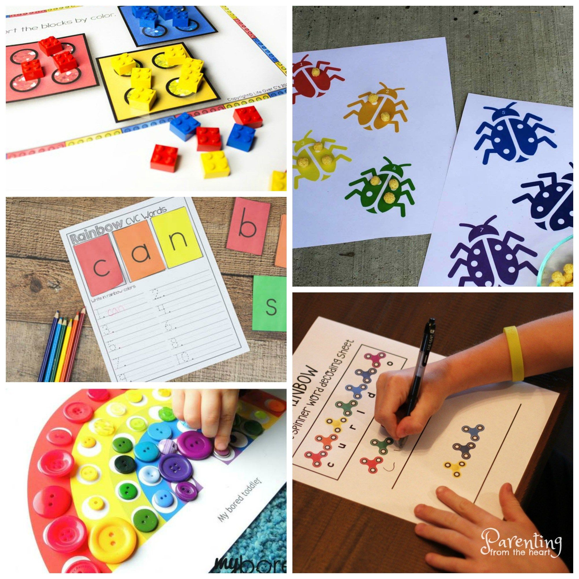 Rainbow Printables For Play Based Learning Fun