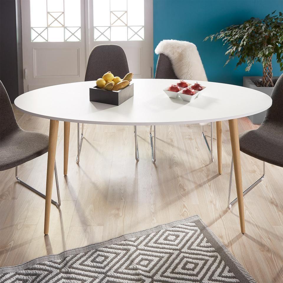 Esstisch Oslo 80x160 Weiß Oval Esstisch Esstisch