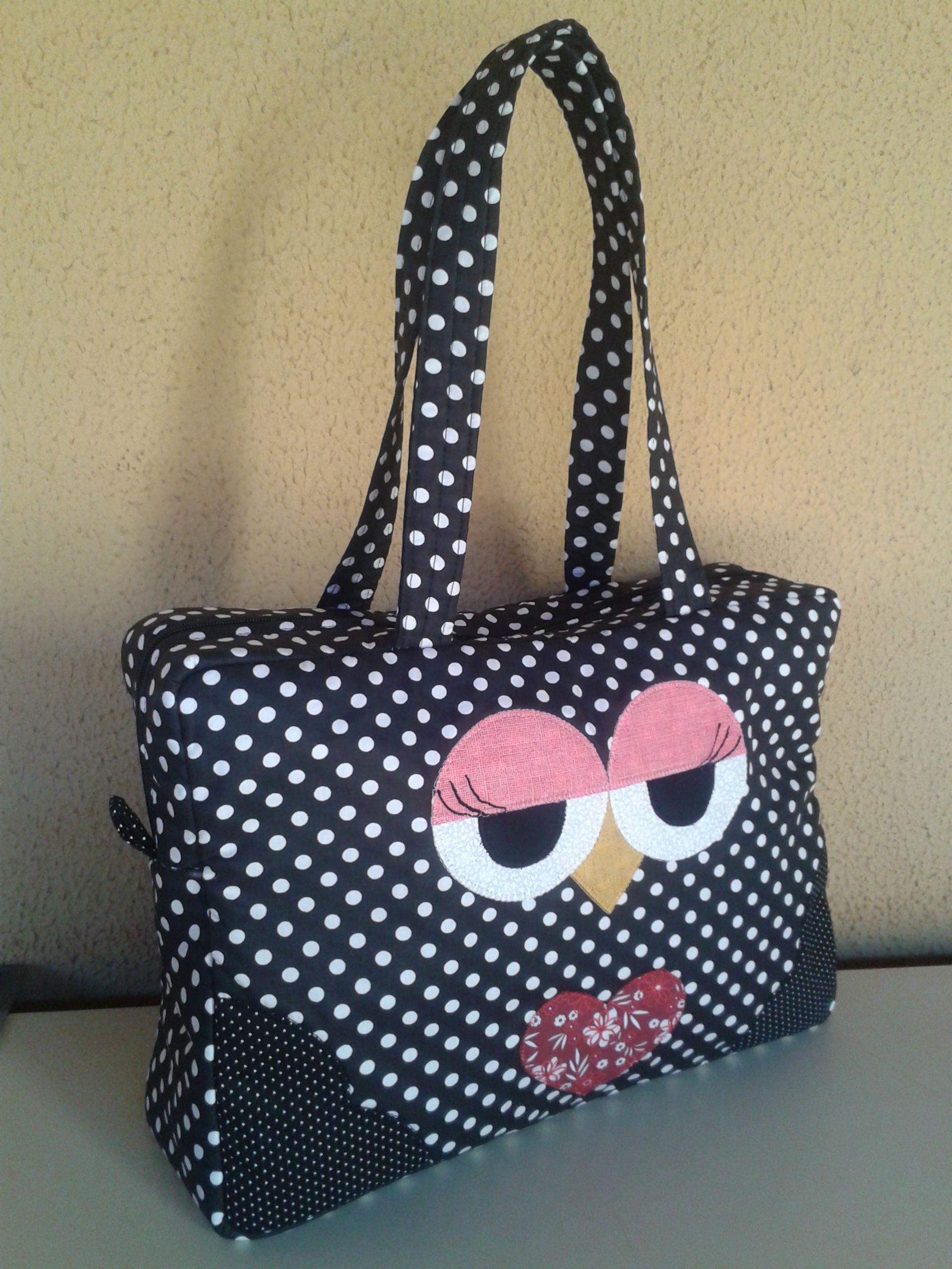 Bolsa De Tecido E Jeans : Bolsa de tecido cara coruja bolsas bag