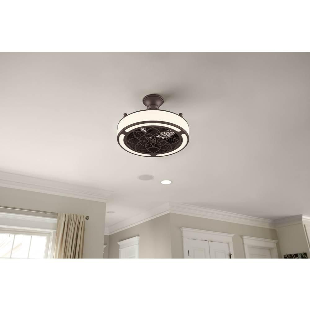 Stile Anderson 22 In Led Indoor Outdoor Bronze Ceiling Fan With
