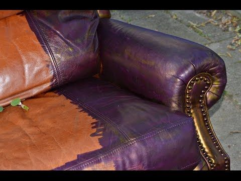 Change Color Of Leather Paint Vinyl Youtube Leather Dye Leather Couch Repair Leather Repair