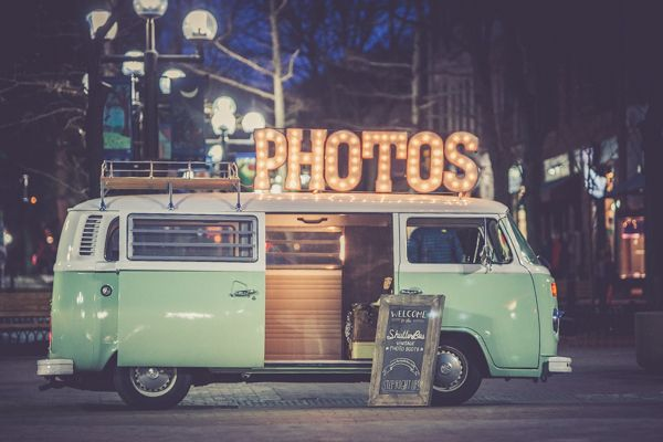 The ShutterBus Photo Booth, available to rent for Colorado
