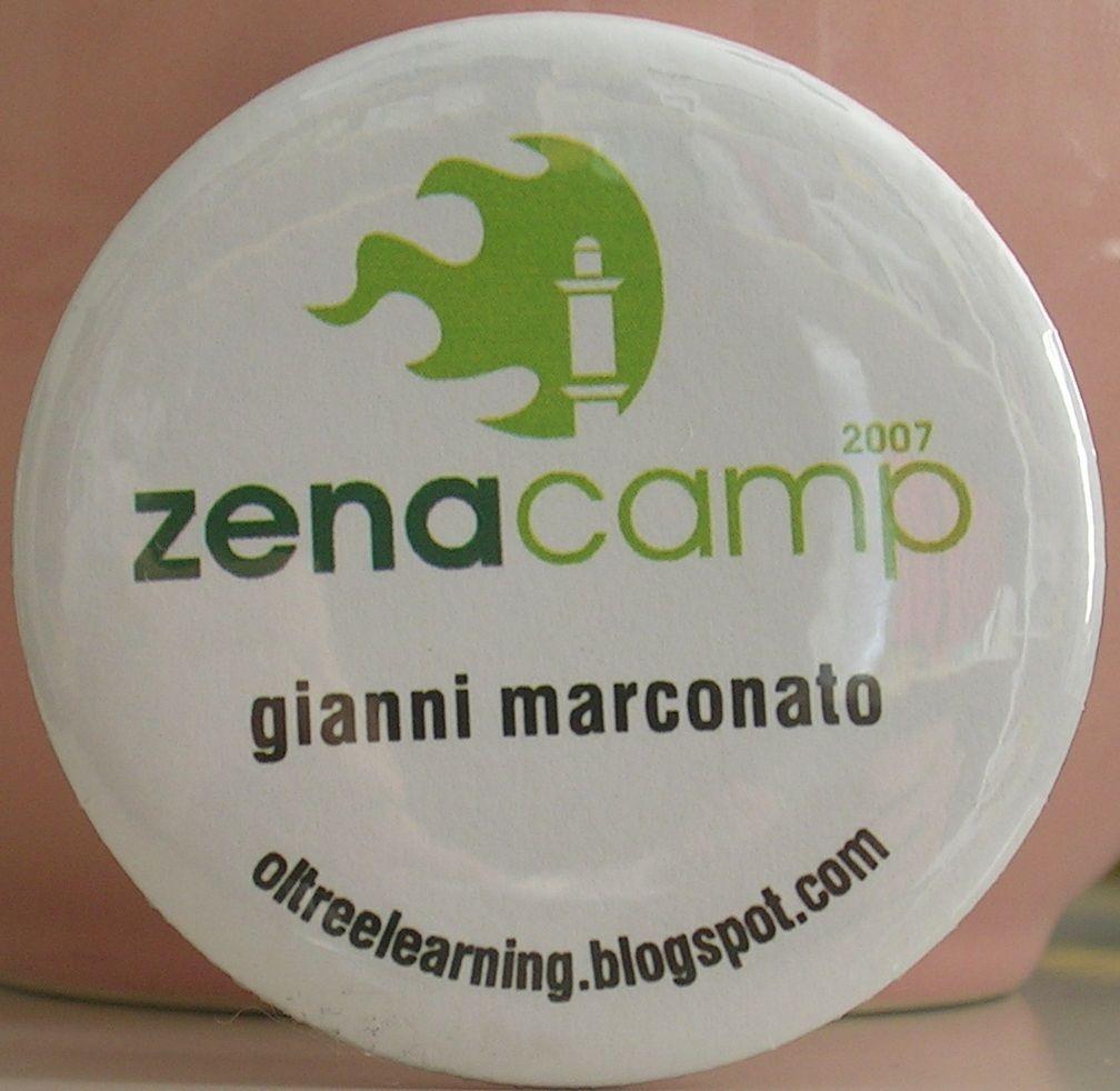 Zena Camp. Badge personalizzato con nome e url del blog (di allora)