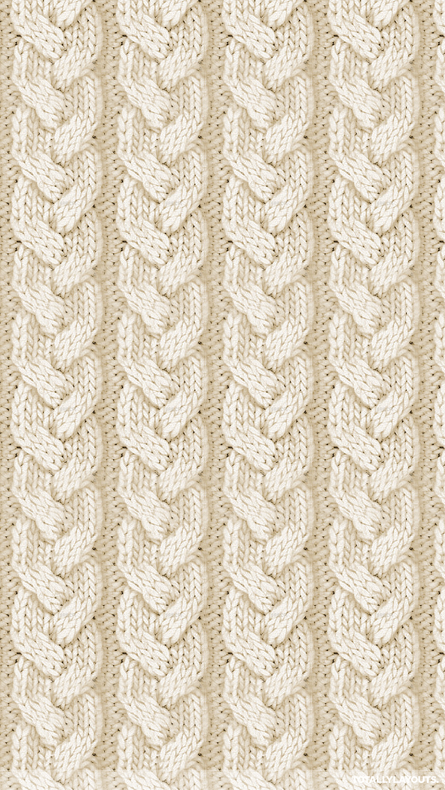 Cream Cable Knit Apple Wallpaper Iphone Background Iphone Wallpaper Winter