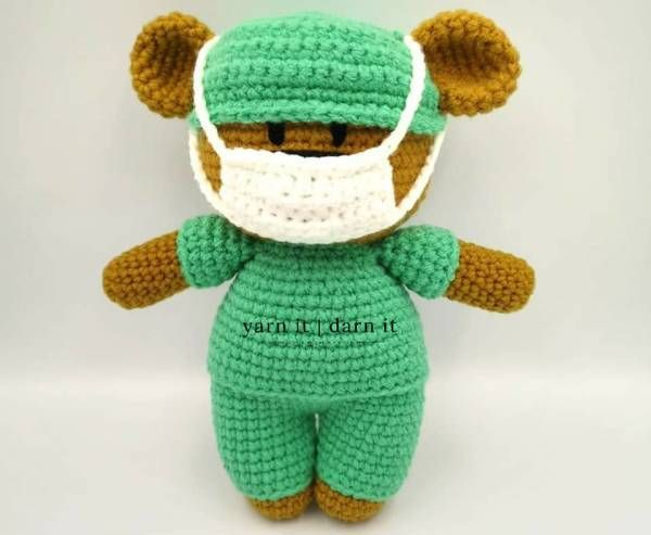 Free Pattern – Frontline Hero Bear