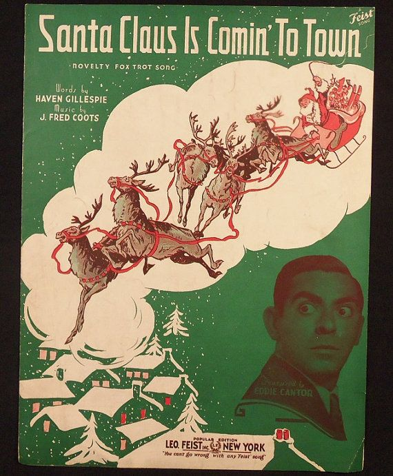 Santa Claus Is Coming To Town Eddie Cantor 1934 Leo by tonyc951